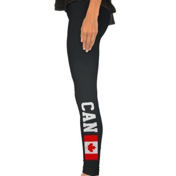 Canadian flag sports leggings | Canada CAN pride