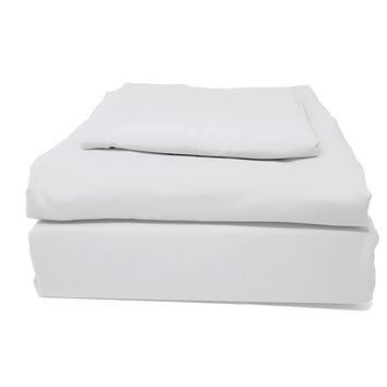 Tache 2-3 Piece Solid Easy Care Cloud White Duvet Cover Bedding Set (505-CW-DS)