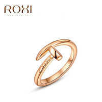 Roxi Rings Carter Nail Rings for women and men casual dress Rose Gold silver Plating anel anillos wedding rings finger rings