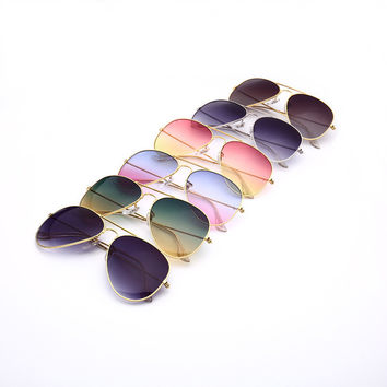 Awesome Aviator Mirror Gradient Glasses