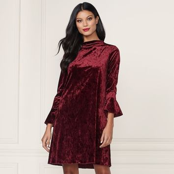 LC Lauren Conrad Runway Collection Velvet Swing Dress - Women's