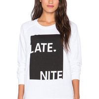 Junk Food Late Nite Pullover in Electric White