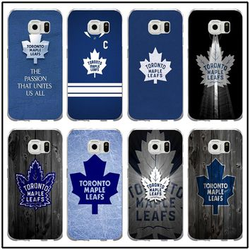 Nhl Toronto Maple Leafs Soft TPU Silicon Cell Phone Cases for Samsung Galaxy Note 2 3 4 5 8 S3 S4 S5 Mini S6 S7 S8 S9 Edge Plus