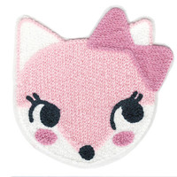 ON SALE 15% OFF Large & Cute 14cm Chenille Pink Cat Patch Applique