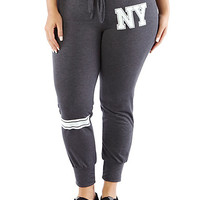 Plus-Size French Terry NY Sweatpants - Rainbow