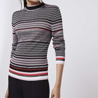 Brick Knit Funnel Neck Sweater - Topshop