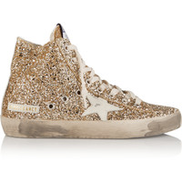 Golden Goose Deluxe Brand - Francy glittered leather high-top sneakers