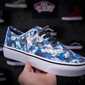 Vans Floral Print Old Skool Canvas Flat Sneakers Sport Shoes