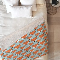 Allyson Johnson So Foxy Fleece Throw Blanket