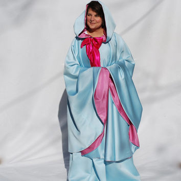 Fairy Godmother Set, Cape and Skirt, Sky Blue