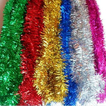 2M /Pcs Colorful Bar Christmas Tree Omament Garland Decoration Party Supplies Encryption Wedding Holiday Decorations Noel