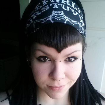 Ouija board bandana with Bat