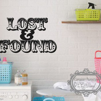 Lost and Found Laundry Room Vinyl Wall Decal