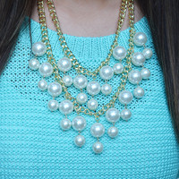 Impossible To Forget Necklace: Gold/Pearl