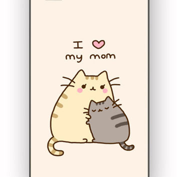 Pusheen The Cat I Love My Mom for iPhone 4/4S Case **