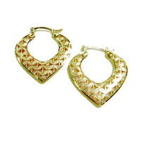 Earrings Hoops 18Kts of Gold Plated