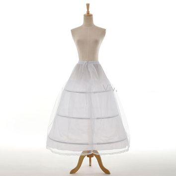 2 Hoop Underskirt Bridal Accessories A-Line White Petticoat For Wedding Dresses