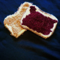 Peanut Butter and Jelly Knit Pot Holders