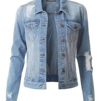 Classic Distressed Jean Jacket