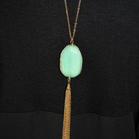 Seafoam Tassel Necklace