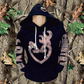 Pink Camo Love Country Hoodie