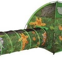 Pacific Play Tents African Adventure Tent & Tunnel Combo #40610