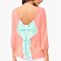 Mint Bow Blouse...Follow me for more:)