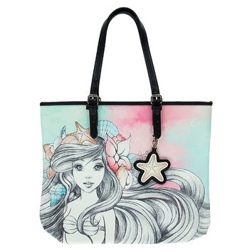 Disney Parks Ariel Watercolor Tote Bag by Loungefly New with Tag