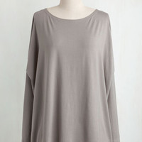 Minimal Mid-length Long Sleeve Simplicity Under the Sunrise Top in Pebble