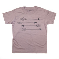 Arrows Kids Short Sleeve Organic Tee in Cinder Brown