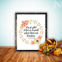 Fall Printable art print octobers decoration by PrintableWisdom