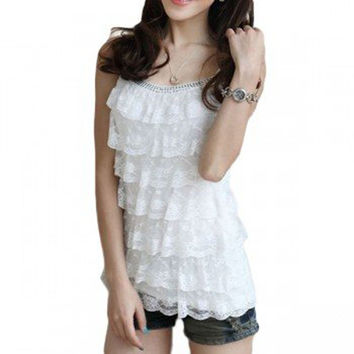 Sweety Layer Lace Camisole Tank