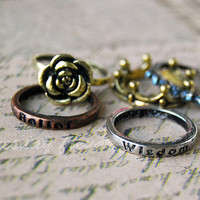 Hogwarts Houses - stacking rings inspired by the Harry Potter books