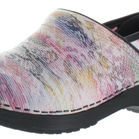 Sanita Wonderland Women's Leather Print Comfort Clogs