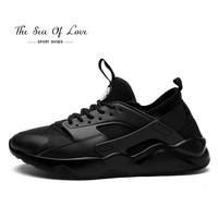 2017 Mens sports Running shoes air sneakers white black Light Breathable basket tennis walking shoes outdoor Zapatillas