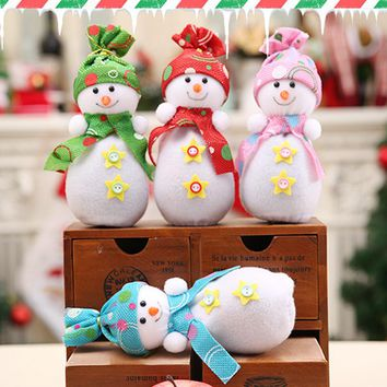Christmas Eve Candy Gifts Bag Apple Bags Cute Snowman Doll Ornaments Christmas Decoration