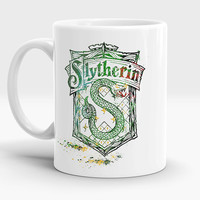 Slytherin Crest mug, Qualities Students of this house, Harry Potter coffee - tea cup, Hogwarts Houses mug