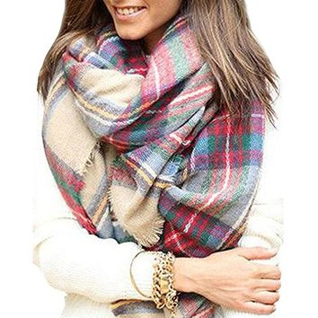 Stylish Warm Blanket Scarf Gorgeous Wrap Shawl Gift for Women Men