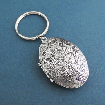 Dandelion, Locket, Keychain, Photo, Flower, Key ring, Birthday, Friendship, Best friends, Valentine, Gift, Jewelry, Accessory