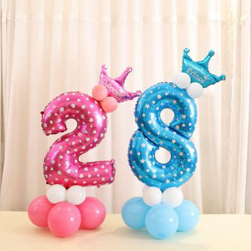 Party Essentials - Birthday Number Balloon Set - 🔟📆🎂🎁🎈