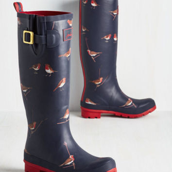 Darling Splash the Time Rain Boot in Robins