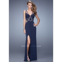 La Femme 21140 Stunning Illusion Dress