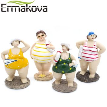 ERMAKOVA  Resin  Plump  Beauty  Figurine  Statue  Chubby