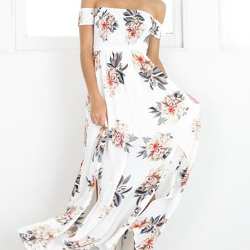 Print Hot Sale Wrap Floral Prom Dress One Piece Dress [10480113228]