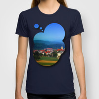 Village skyline on a summer afternoon T-shirt by Patrick Jobst