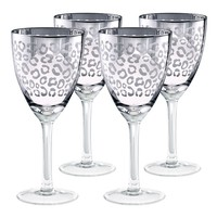 Artland Leopard 4-pc. Wine Glass Set