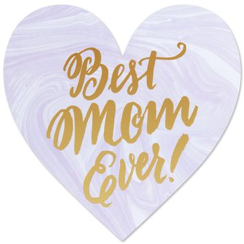 THE SOCIAL TYPE BEST MOM HEART CARD