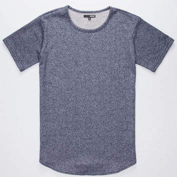 Elwood Brush Terry Mens T-Shirt Navy  In Sizes