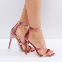 Public Desire Dusty Pink Heeled Sandals at asos.com