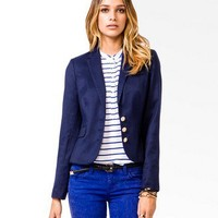 Nautical Button Blazer